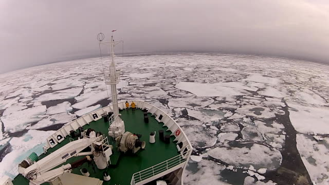 Travel In the ice , Arctic Travel on the ship In the ice , Arctic polar climate stock videos & royalty-free footage