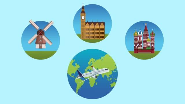 resa till europa hd animation - kreml bildbanksvideor och videomaterial från bakom kulisserna
