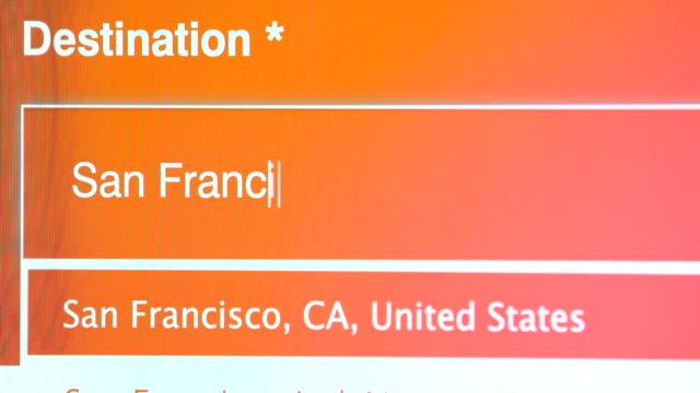 travel to san francisco california usa - fare una prenotazione video stock e b–roll