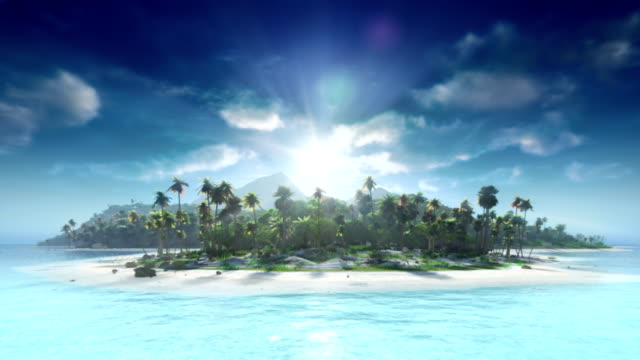 Travel to tropical island