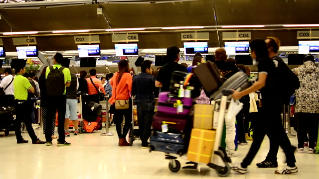 Traveler Crowd at Airport video