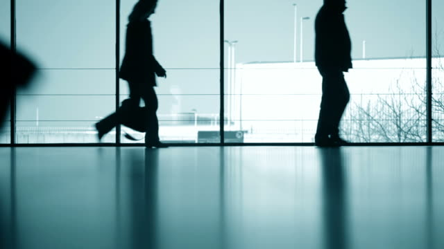 travelers silhouettes - business travel stock videos and b-roll footage