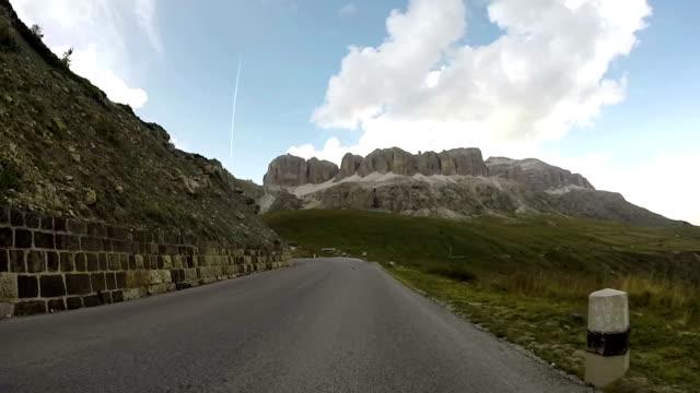 Traveling in Dolomites Alps, Pordoi pass, Italy video