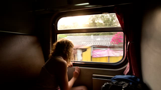 traveling in train - train stock videos and b-roll footage