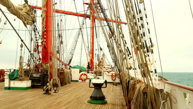 traveling on an old sailing ship video