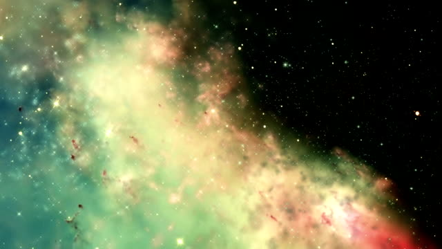 Traveling through a galaxy and star fields in deep space. video