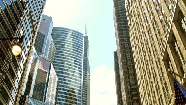 vidéos et rushes de voyage à chicago - vue en contre plongée