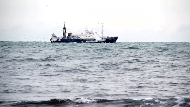 trawlers in the North Sea video