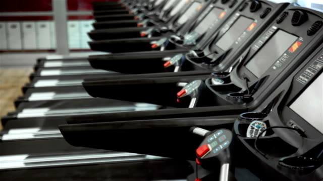 Treadmills Treadmills health club stock videos & royalty-free footage