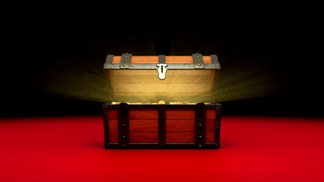 Treasure Chest, gold coins. video