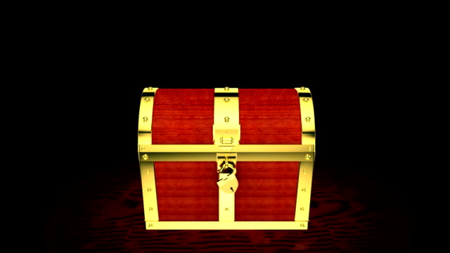 scatola del tesoro - scatola del tesoro video stock e b–roll