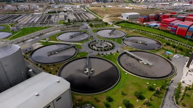 treatment plant - acquedotto video stock e b–roll