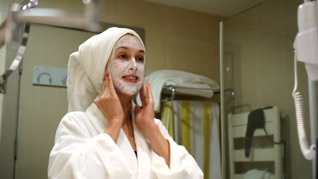 treatment with facial mask