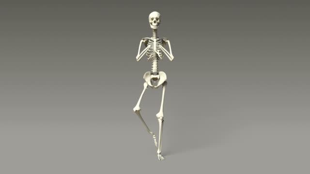 Tree Pose Of Human Skeletal video