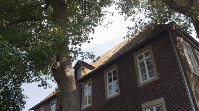 trees and house in germany - penombra video stock e b–roll