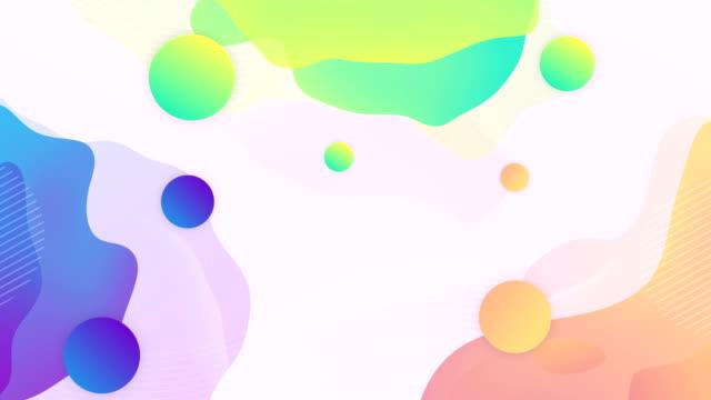 trendiger abstrakter hintergrund mit gradientenkugeln. - geometrische form stock-videos und b-roll-filmmaterial