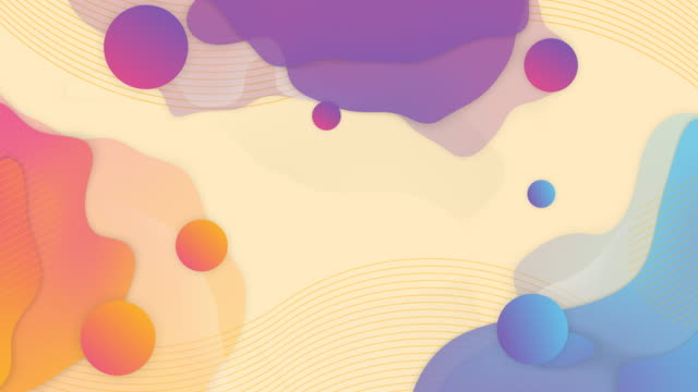 Video Trendy abstract background with gradient balls.