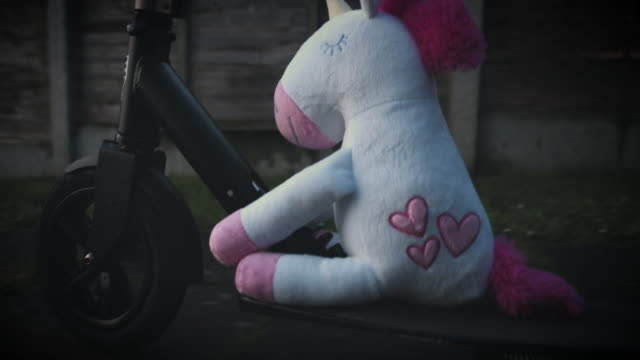 4K Trendy Unicorn Soft Toy on Scooter video
