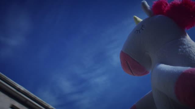 4K Trendy Unicorn Soft Toy Walking on Sunny day video