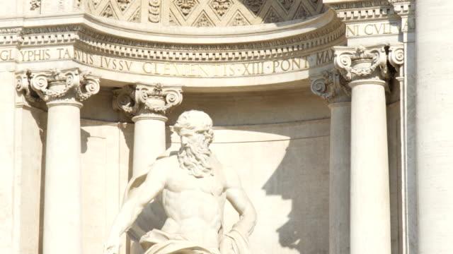 Trevi Fountain in Rome - Italy. Fontana di Trevi famous landmark in Rome. video