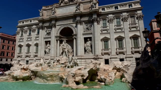 4K: Trevi Fountain in Rome, Italy - Front video
