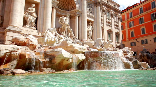 trevi fountain in rome, italy - fountains stock videos & royalty-free footage