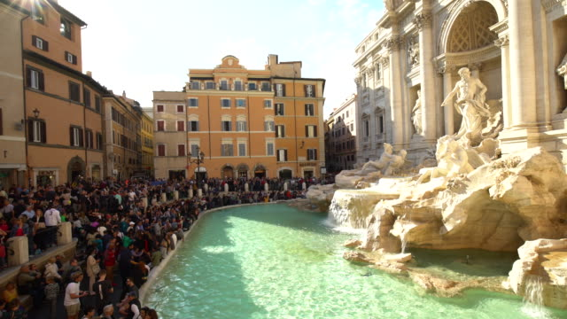 ローマのトレビの泉 ビデオ