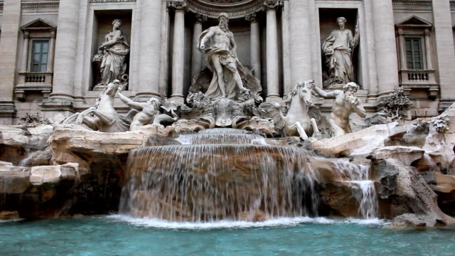 trevi fountain (hd) - fountains stock videos & royalty-free footage