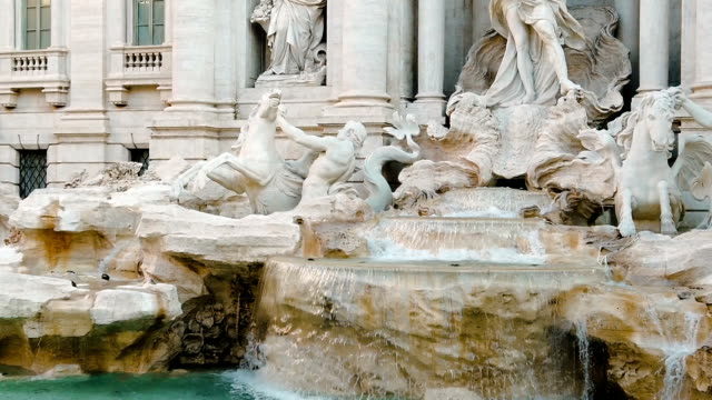 Trevi foutain in Rome Trevi Fountain is the most beautiful and most spectacular fountain in Rome. Millions of people visit it every year to make a wish. fountains stock videos & royalty-free footage