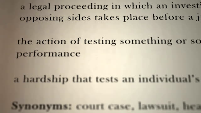 Trial Definition video