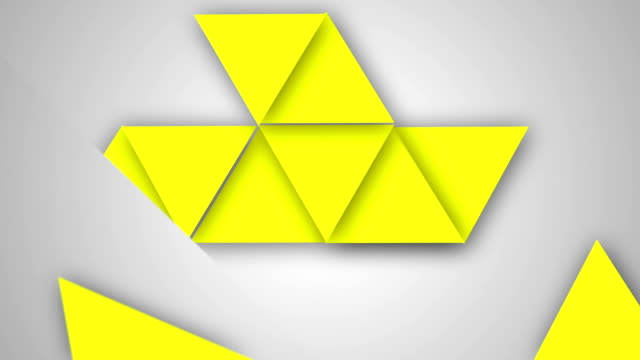 Triangle background video