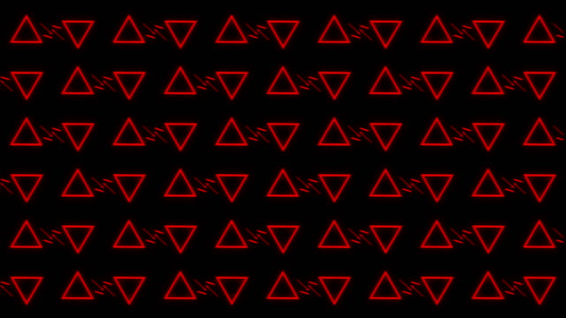 vídeos de stock e filmes b-roll de triangle party led screen abstract background - vr red background