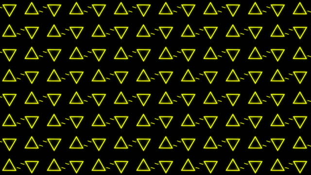 triangle party led screen abstract background video