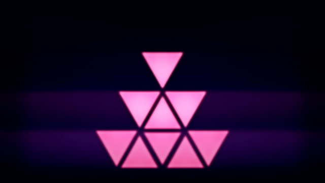 Triangle pixel lights video