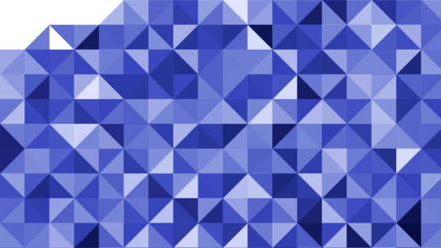 Triangles mosaic pattern video