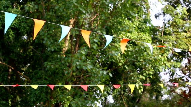 triangular bunting flags decoração - vídeo