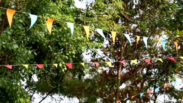 triangular bunting flags decoration video