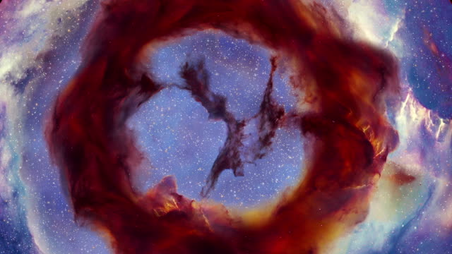 Trifid Nebula An accurate three dimensional depiction of the Trifid Nebula, found in the constellation of Sagittarius. nebula stock videos & royalty-free footage