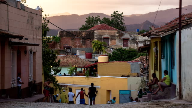 Trinidad city street , Cuba video