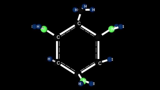 Trinitrotoluene molecule structure. video