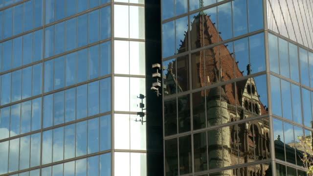 Trinity Church and Hancock Tower Boston video