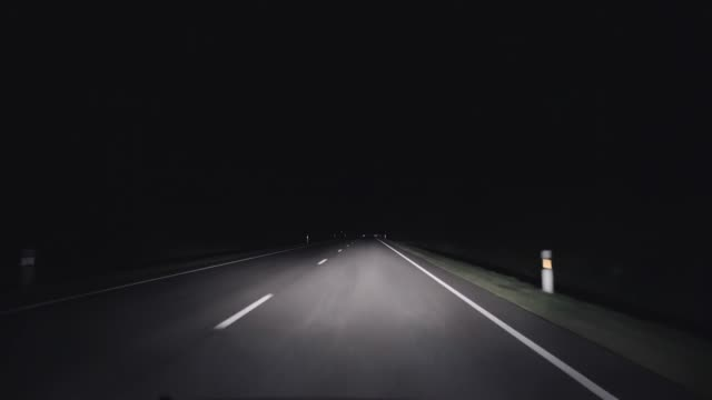 A trip on a night rural road