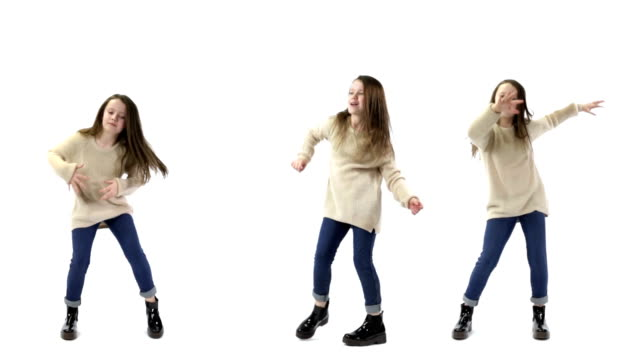stockvideo's en b-roll-footage met triplets dancing - drie personen
