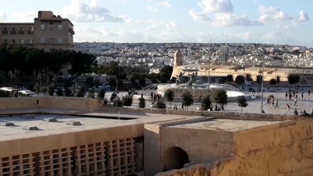 vídeos y material grabado en eventos de stock de fuente tritón - la valeta - malta - inauguration