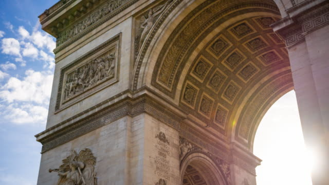 Triumphal Arch in the center of Place Charles de Gaulle in Paris video