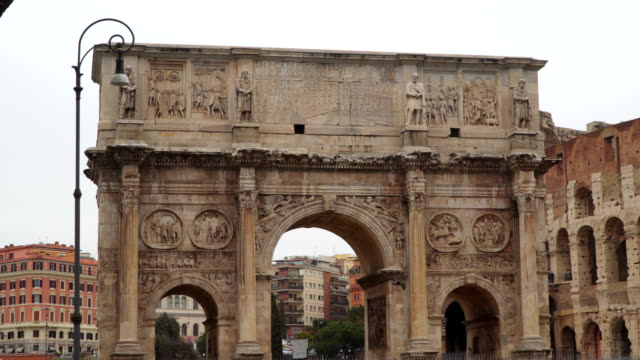 Triumphal Arch of Constantine Rome Italy video