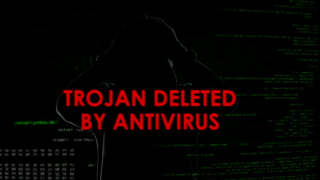 Trojan deleted by antivirus, unsuccessful attempt to infect computer, failure video