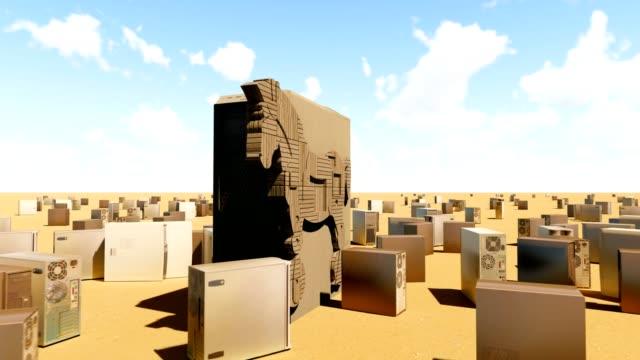 Trojan horse abstract animation