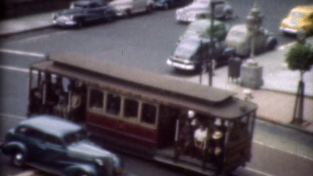 Trolley in the 1940's. video
