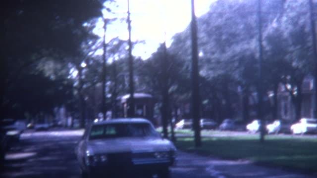 trolley lane 1970 - tranvia video stock e b–roll